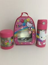 Hello Kitty Thermos Food Jar 10oz/Thermos Funtainer 12oz Bottle/Tin Lunch Box
