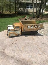 Vtg Toy Marx Metal Press Steel Sand and Gravel Dump Truck Tin Fast Ship