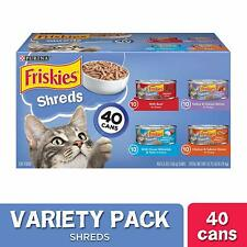 New listing Purina Friskies Wet Cat Food Variety Pack, Shreds Beef,Turkey, (40) 5.5 oz. Cans