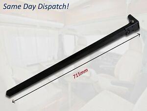 Black Folding Table Leg Campervan Motorhome Caravan Hinged 715mm - VW T5 T6 etc