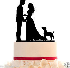 Wedding Cake Topper with your dog choice and Choice of Dog or CAT + Free Base