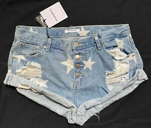 Glamorous Denim Distressed Cuffed Shorts