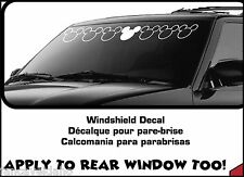 "Mickey Mouse Large 38"" x 5"" Car Auto Windshield Strip Decal Xpressionz"