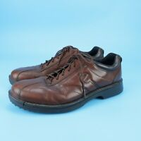 Ecco Mens Shoes Brown Shock Point Bicycle Toe Leather Size 46 EUR 12 - 12.5