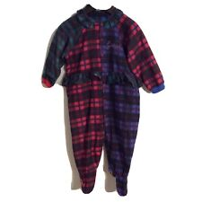 Vintage Guess Footed Plaid Pajamas Size XL 18-24 Months