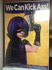 27x40 Sdcc c2e2 chloe moretz signed kick-ass hit-girl  wanted poster 1/100