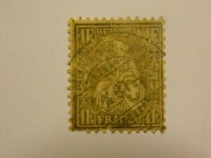 1862-64 Schweiz Suisse Switzerland Helvetia Scott 50