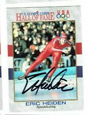 ERIC HEIDEN Autographed Signed 1991 Impel Olympic Speed Skating Card #36