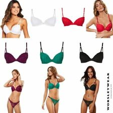 EX Ann Summers Sexy Lace Plunge Push Up Padded Bra DD-H Cup RRP £20.00