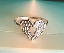 *Hearted Enclosed Wings* ~ $10.29 Sterling Silver .925 Toe Ring 10mm
