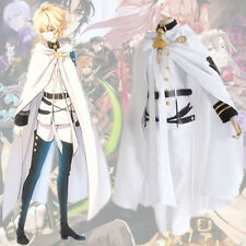 Anime Seraph of the end Vampire Mikaela Hyakuya Cosplay Outfit White Uniform