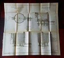 1900 Plan of English Filter Washington DC Water Supply