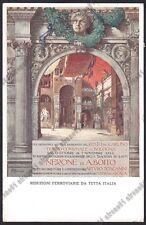 BOLOGNA CITTÀ 254 Illustr. ROBERTO FRANZONI TEATRO LIRICA Cartolina viagg. 1924