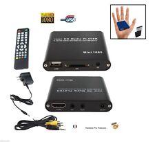 Passerelle Multimédia FULL HD 1080P TV  AV USB Télécommand Lecteur Carte SD