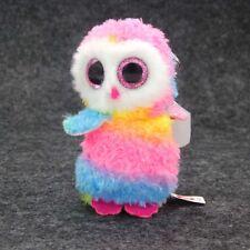 "3.2"" Ty Beanie Boos Owen Pink White Owl Stuffed Plush Toys Cute Mini"