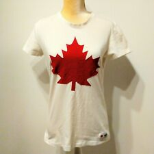 531aad5f2 HUDSON'S BAY CO. Canada Olympic Maple Leaf #12 White T Shirt L