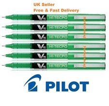 6 x Pilot Hi-Tec Point V5 0.5mm Fine Liquid Ink Rollerball Pen GREEN Non toxic