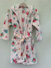 GIRLS FLEECY DRESSING GOWN/ROBE AGE 7 YEARS FROM JOHN LEWIS GIRL  WHITE FLORAL