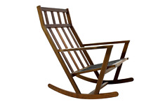 Teak Rocking Chair by Poul Volther for Frem Rojle Denmark 60s Schaukelstuhl