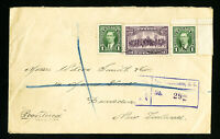 Canada Registered Cover With Backstamps