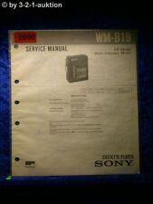 Sony Service Manual WM B19 Cassette Player (#2090)