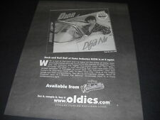 Dion R&R Hall Of Famer is at it again 2000 Promo Display Ad mint condition