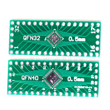 5pcs NEW QFN32 QFN40 to DIP 32/40 Adapter PCB Board Converter Double Sides MA
