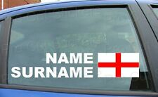 x2 Large Rally Tag Name Surname Car Stickers Decal England St George Flag ref:11