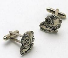 Divers Helmet English Pewter Cufflinks diving Cuff Links  NEW in BOX  8578