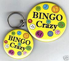 BINGO CRAZY - MIRROR KEYRING WITH FREE FRIDGE MAGNET