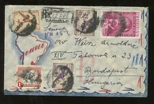 URUGUAY REGISTERED ILLUSTRATED AIRMAIL ENVELOPE 1957 to HUNGARY + LETTER CARMELO