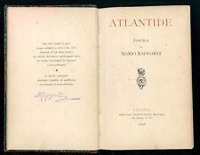 RAPISARDI MARIO ATLANTIDE POEMA GIANNOTTA 1894 I° EDIZ. POESIA