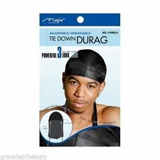 Magic Tie Down Durag Black CAT NO. 4769BLK