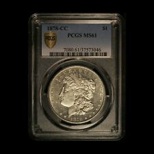 1878-CC $1 Morgan Silver Dollar PCGS MS 61 - Free Shipping USA