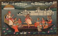 Mughal Empire Miniature Painting Handmade Indian Mogul Dynasty Emperor Decor Art