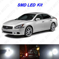 15 x White LED Interior Bulbs + License Plate Lights for 2009-2014 Nissan Maxima