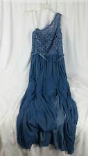 Bridesmaid Dress David's Bridal Long Prom F17063 Size Sz 18 Women's Steel Blue