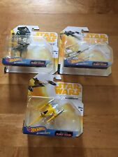 Star Wars Die Cast lot of 3 AT-ST, NABOO N-1 STARFIGHTER, X-WING FIGHTER RED 3