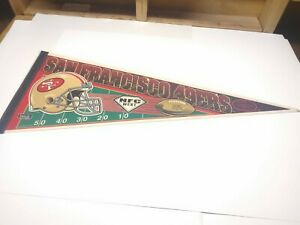 Vintage San Francisco 49ers NFC West Full Size Pennant