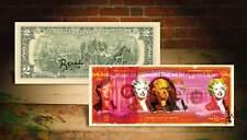 MARILYN MONROE Red Rency Pop Art $2 Bill Signed by Artist #/70