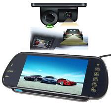 "7"" HD MP5 Bluetooth Car Rearview Mirror Monitor+2 in 1 Car Parking Sensor Camera"