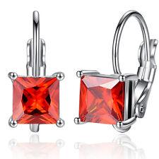 18K Rose Gold GP Austria Crystal Drop Earrings lady hoop earrings Dangle earring