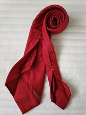 Seven fold Tie by Damiano Presta 7 fold woven red silk made in Italy handmade