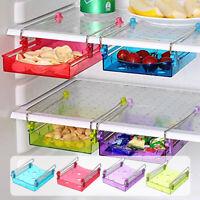 Slide Holder Refrigerator Storage Rack Shelf Kitchen Fridge Freezer Space Save