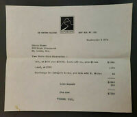 Vintage Autoscene NY Travel Invoice Paris Air Fare Harry Shear Sept. 1976
