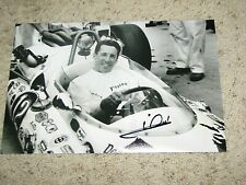 MARIO ANDRETTI SIGNED INDY CAR DRIVER 8x12 PHOTO coa indy 500 winner 1