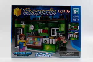 N-Bricks NBR-N98010 Kaffee Bar Klemmbaustein Set Light up Brick Crystaland