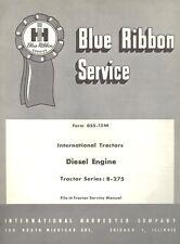 International Harvester B-275 B275 Tractor Diesel BD-144 Engine Service Manual