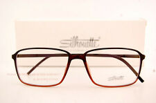 New Silhouette Eyeglass Frames SPX ILLUSION 2887 6054 Brown Women Men SZ 55