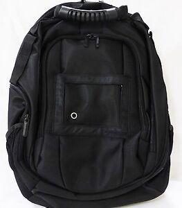 """Laptop backpack 15"""" black nylon"""